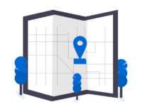 Carte avec localisation