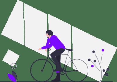 Large gamme de vélos