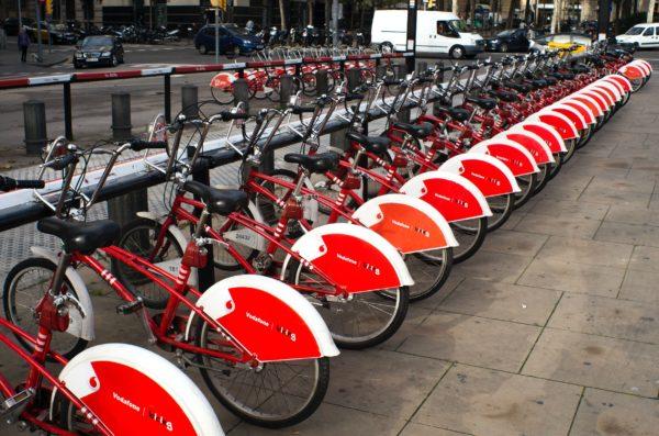 Borne de vélos en libre service