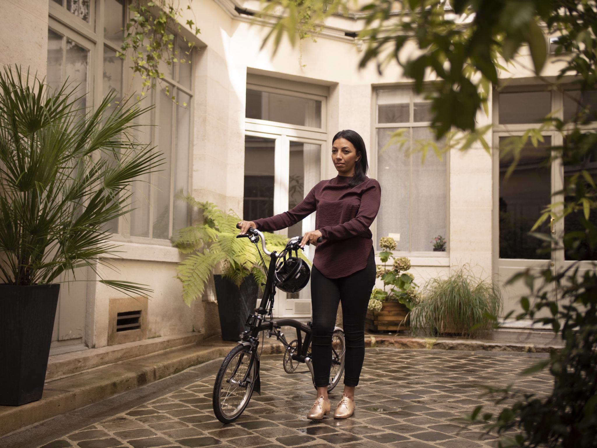D'épart d'un salarié avec son vélo de fonction