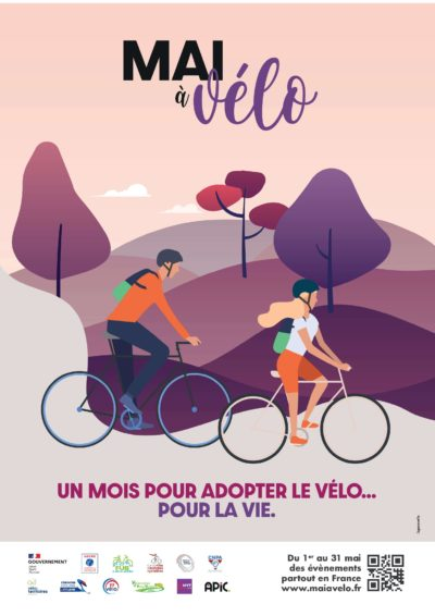 Affiche mai à vélo 2021